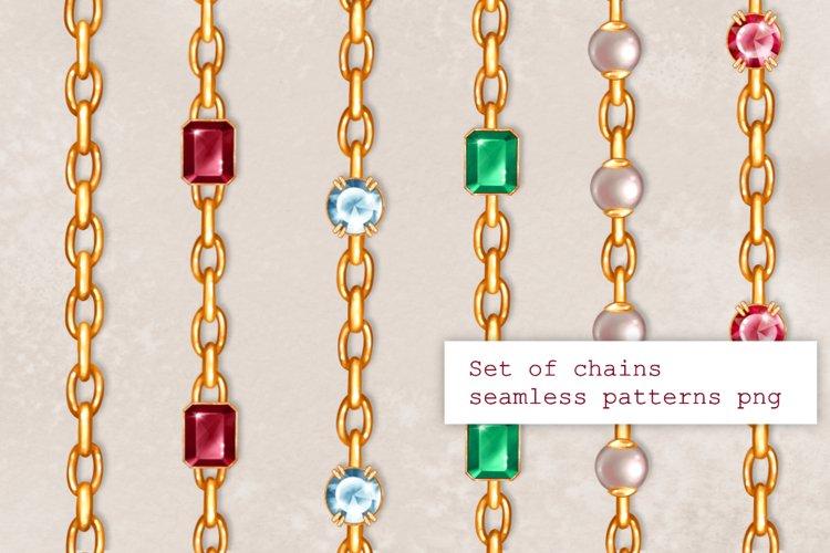 6 golden chains seamless