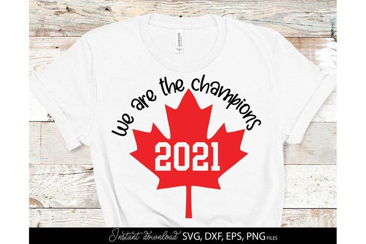 Hockey SVG Canada Print PNG Ice Hockey Champions Canada Flag