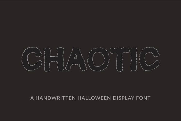 Web Font Chaotic - a quirky halloween handwritten font example image 1
