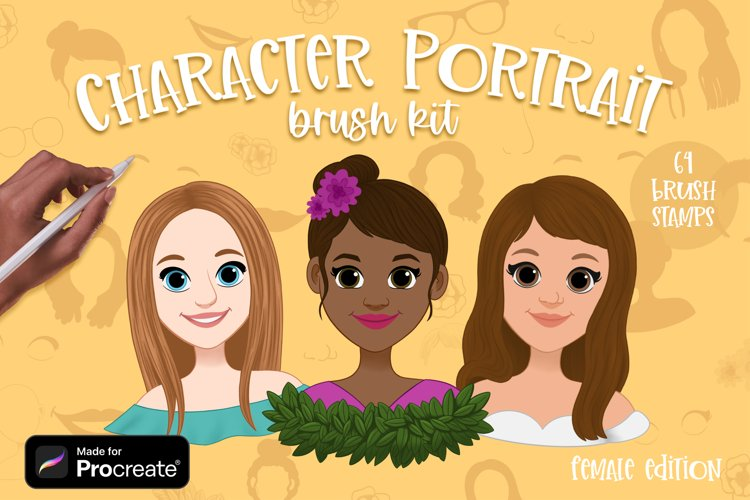 Character Portrait Creator brushes for Procreate | Female