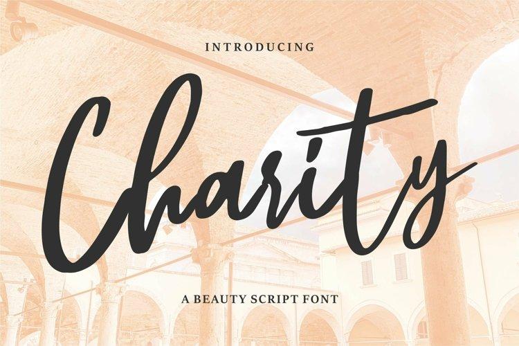 Web Font Charity - A Beauty Script Font example image 1