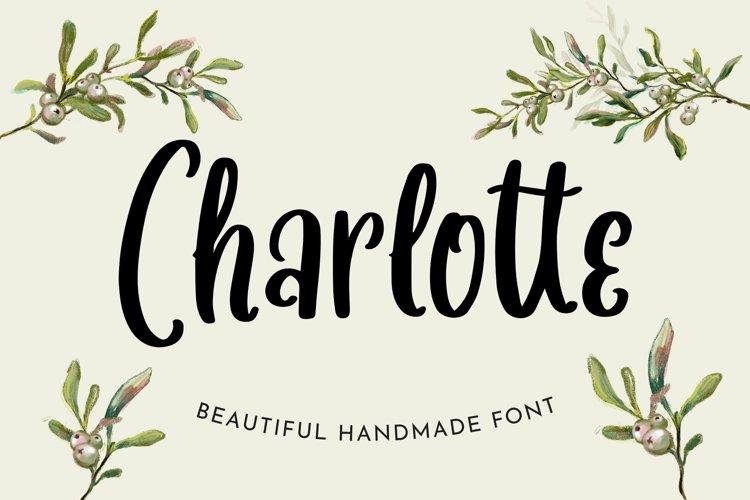 Web Font Charlotte - Beautiful Handmade Font example image 1