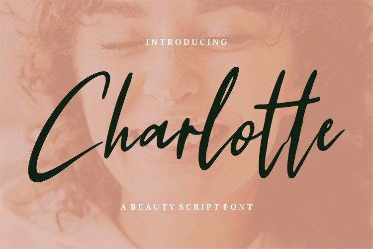 Charlotte - A Beauty Script Font example image 1