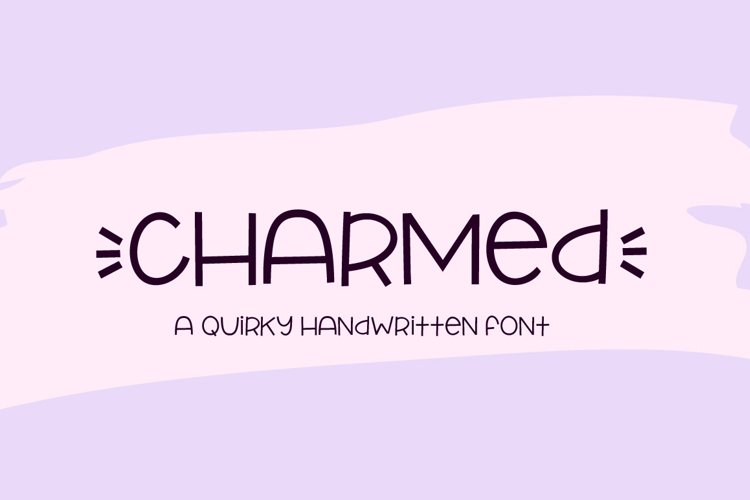 Charmed - a quirky handwritten font example image 1