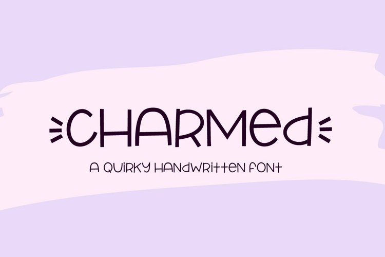 Web Font Charmed - a quirky handwritten font example image 1