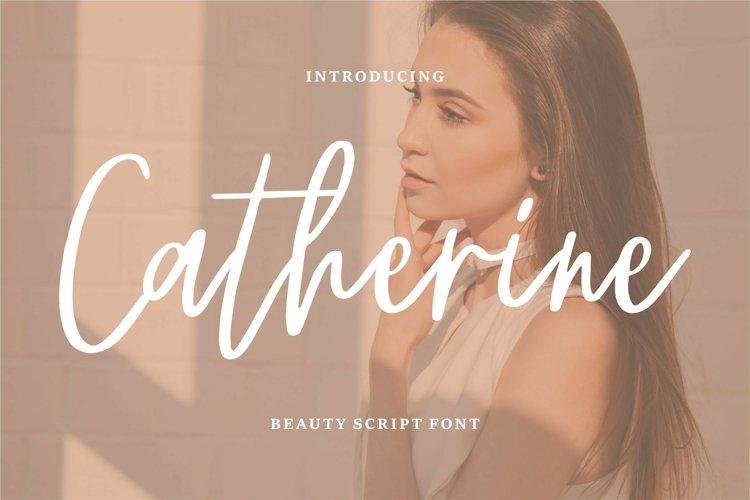 Web Font Chaterine - Beauty Script Font