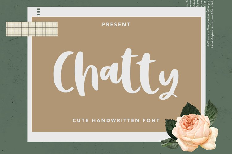 Chatty - Cute Handwritten Font example image 1