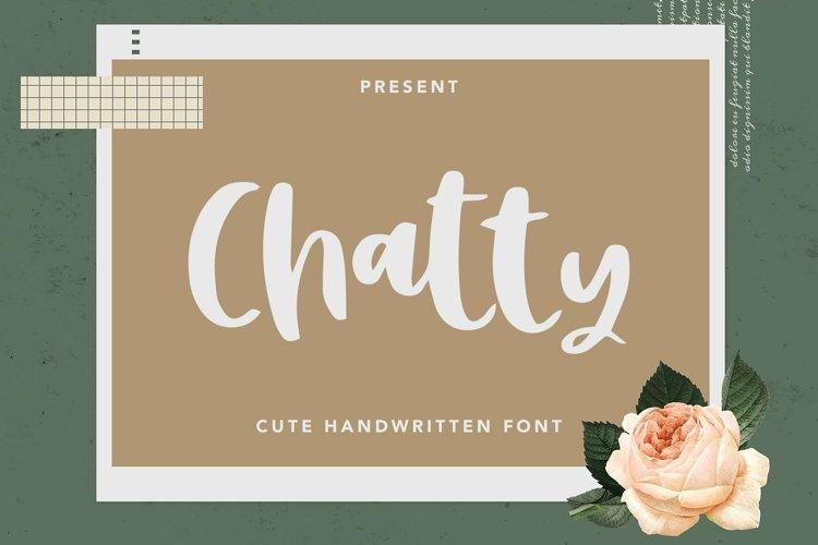 Web Font Chatty - Cute Handwritten Font example image 1