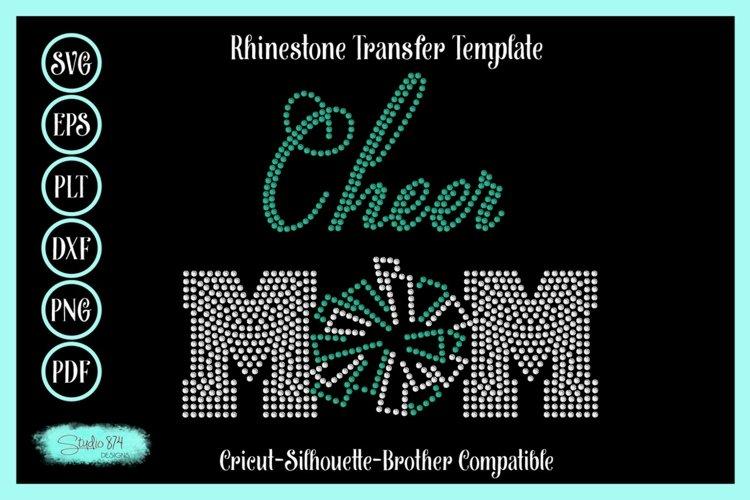 Cheer Mom Rhinestone SVG Transfer Template