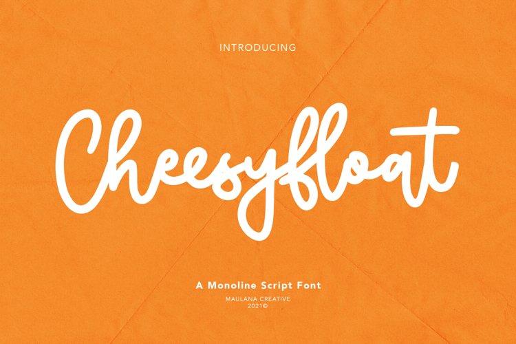 Cheesyfloat Monoline Script Font example image 1