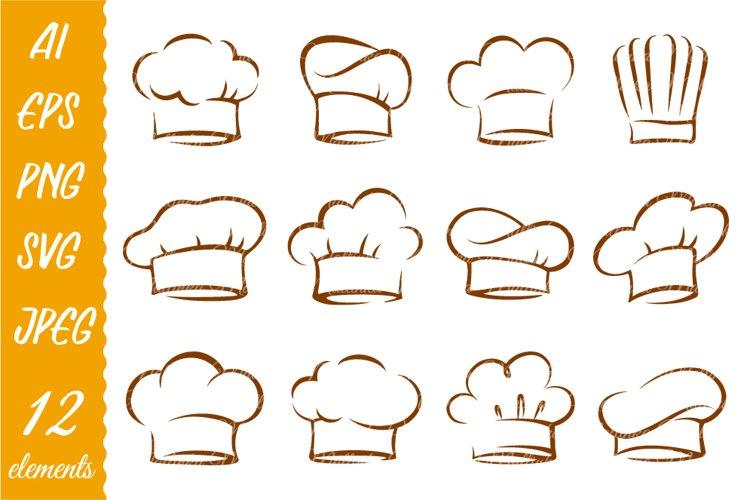Chef hat svg. Chef cook hat. SVG. PNG.