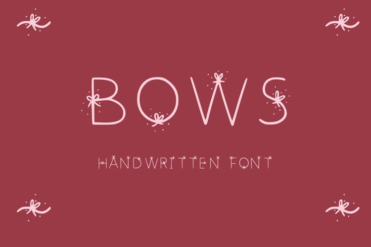 simple font with bows