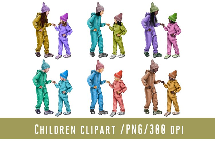 Children Clipart Baby Clipart Family Brothers and Sisters
