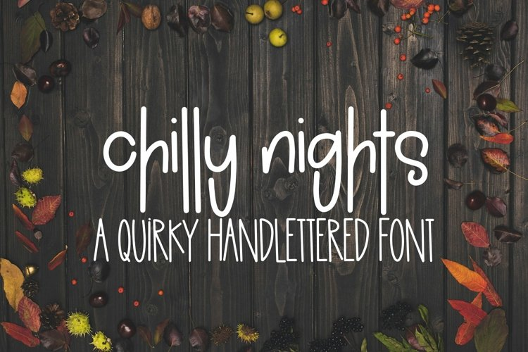 Web Font Chilly Nights - A Quirky Handlettered Font example image 1