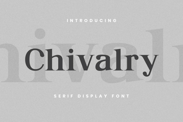 Web Font Chivalry Font example image 1