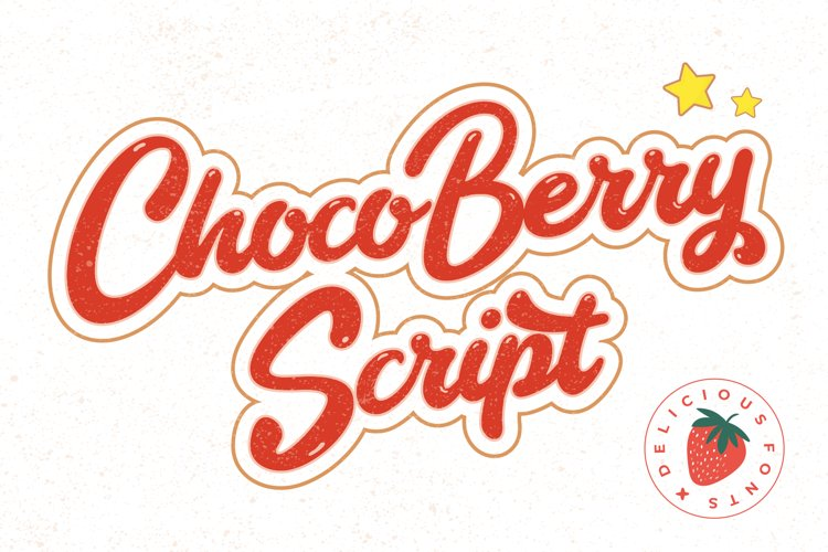Choco Berry - Delicious Food Fonts example image 1