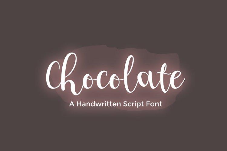 Chocolate - handwritten script font example image 1