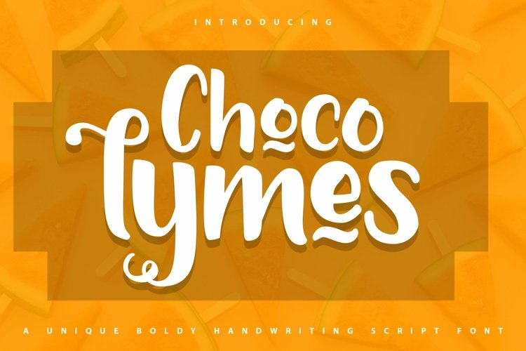 Web Font Chocolymes - Boldy Handwriting Script Font example image 1