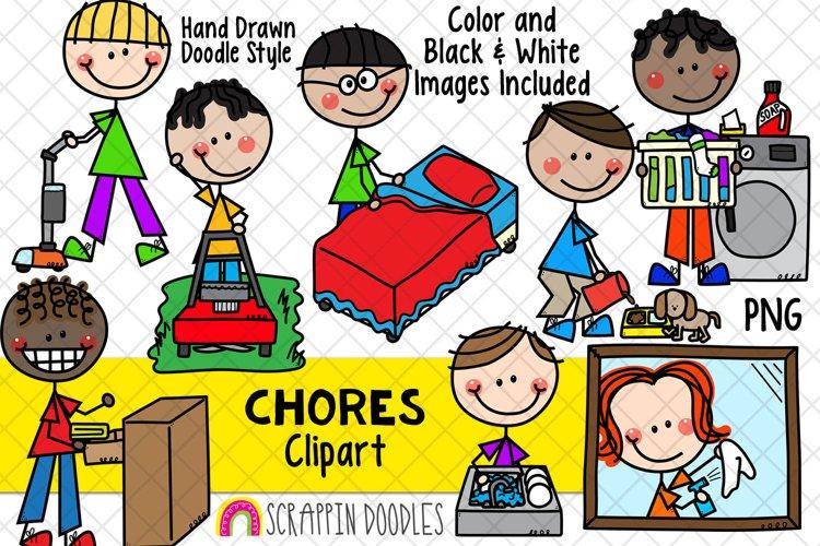 Household Chores ClipArt -Doodle Boys Chores Clipart