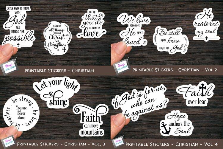 Christian Stickers Bundle - 12 Bible Verse Sticker Designs
