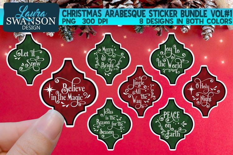 Christmas Arabesque Sticker Bundle Vol#1 | Sticker Set example image 1
