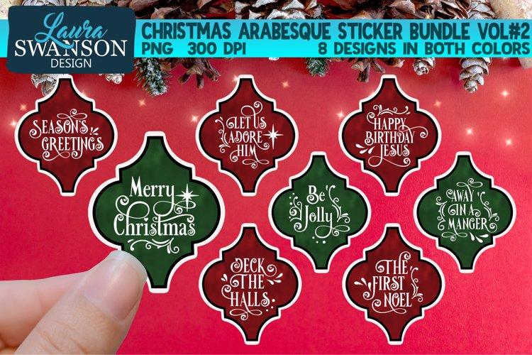 Christmas Arabesque Sticker Bundle Vol#2 | Sticker Set example image 1