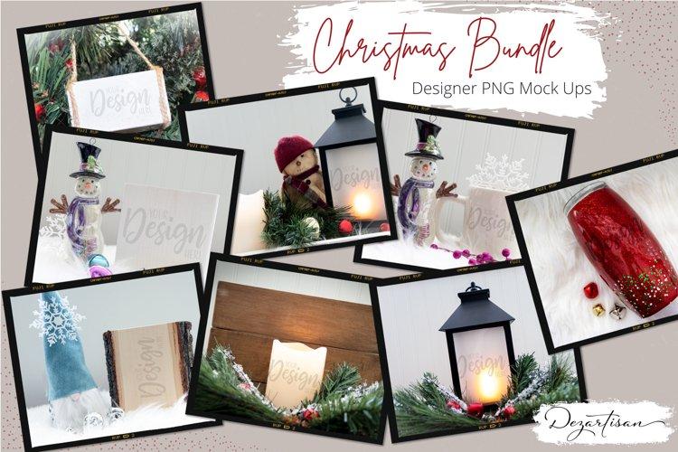 Bundle of Christmas PNG Mock Ups for Designers