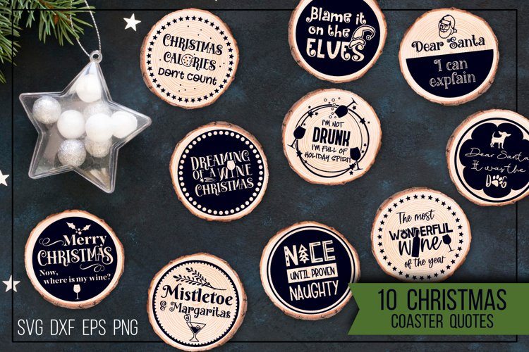 Christmas coasters - Funny quotes example image 1