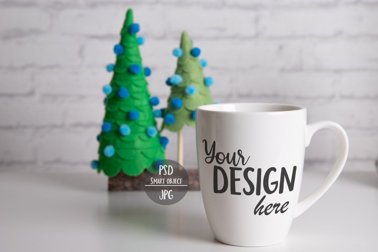 Christmas Coffee Cup Mockup with Smart Object