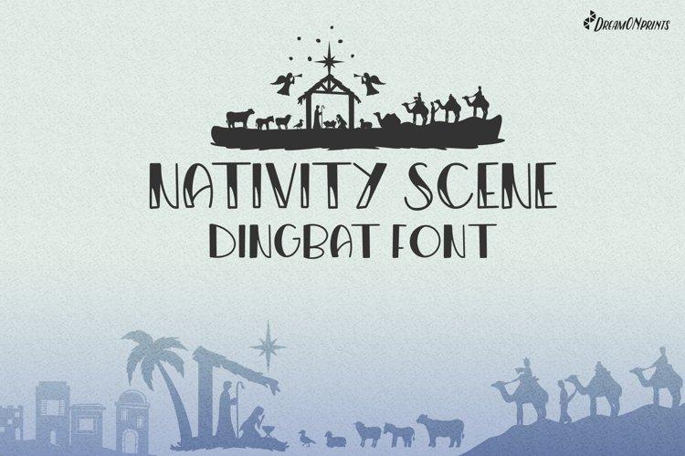 Christmas Dingbat Font   Nativity Font example image 1