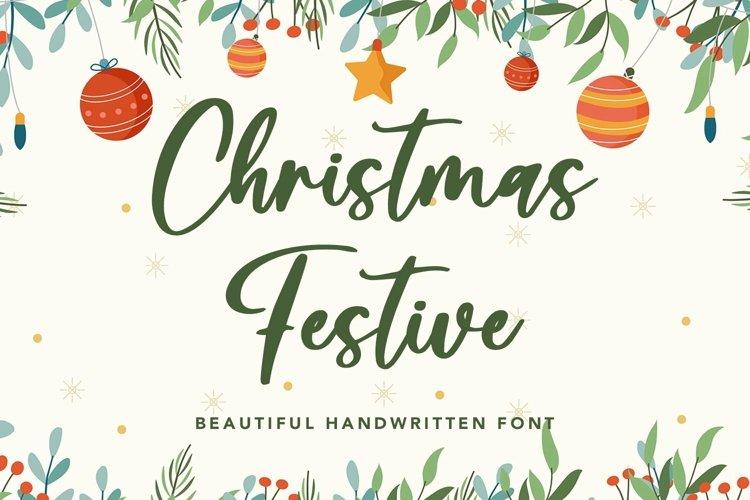 Web Font Christmas Festive - Beautiful Handwritten Font example image 1