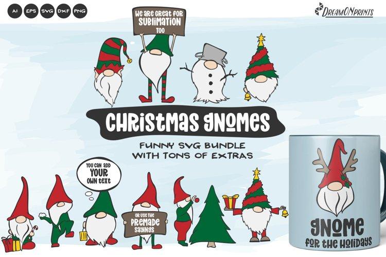 Christmas Gnome SVG Bundle | Funny Christmas SVG Bundle