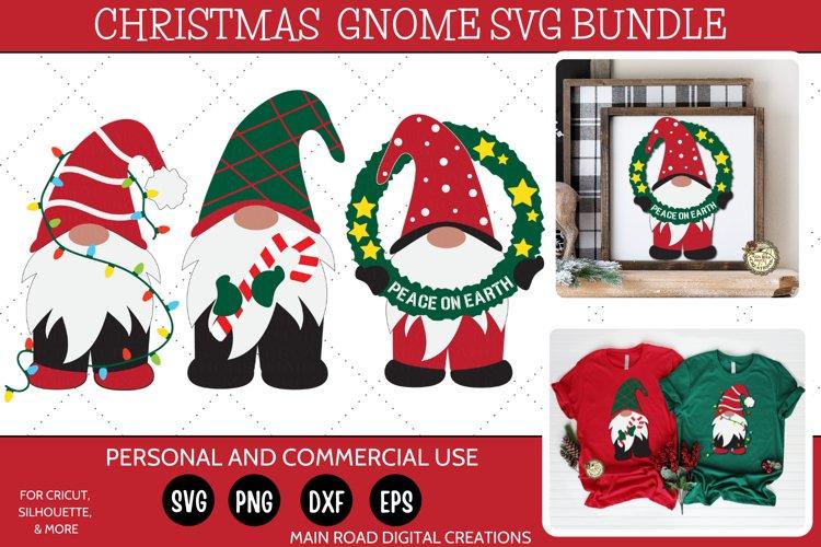 Christmas Gnomes SVG Bundle-Holiday Gnomes-Peace on Earth example image 1