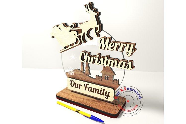 Christmas greetings ornament, New Year. Glowforge ready.