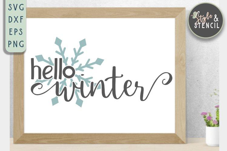 Hello Winter SVG   Christmas   Snowflake