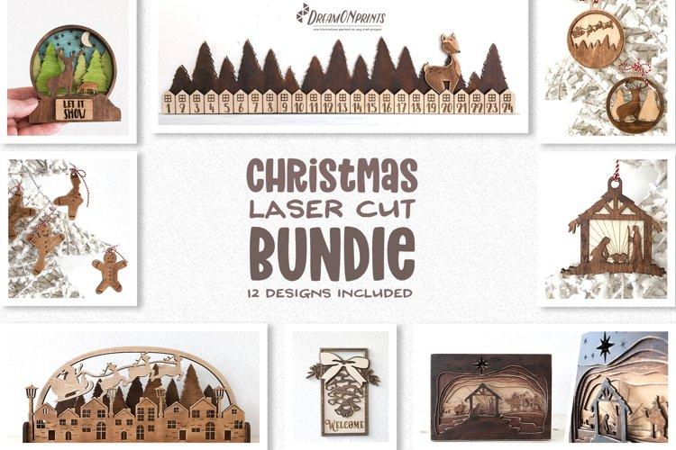 Christmas Laser Cut Bundle | Decorations Glowforge SVG Files
