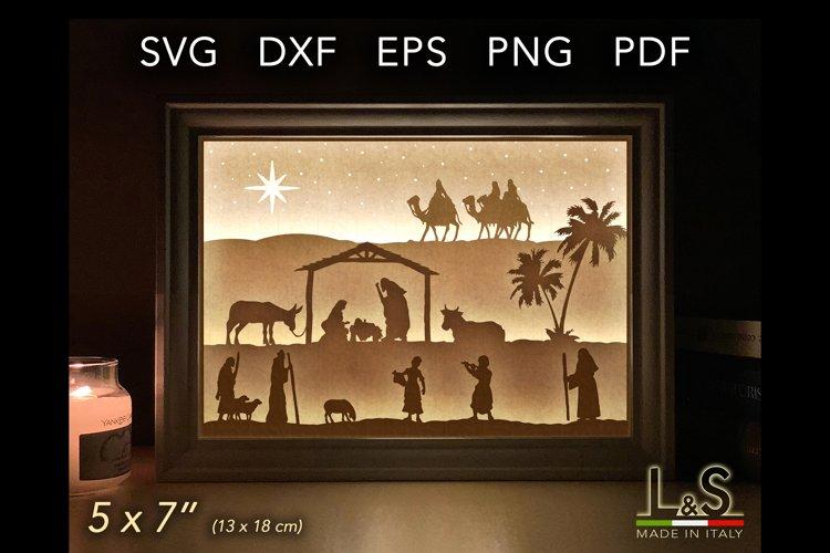 Christmas nativity lightbox template preview