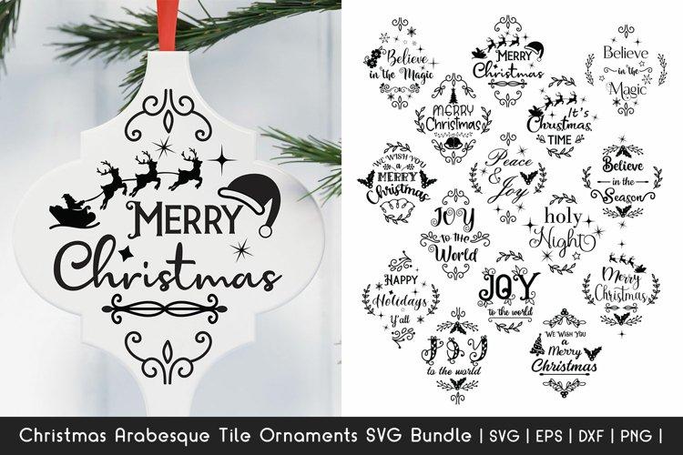 Christmas SVG Bundle - Arabesque Tile Ornaments SVG Bundle