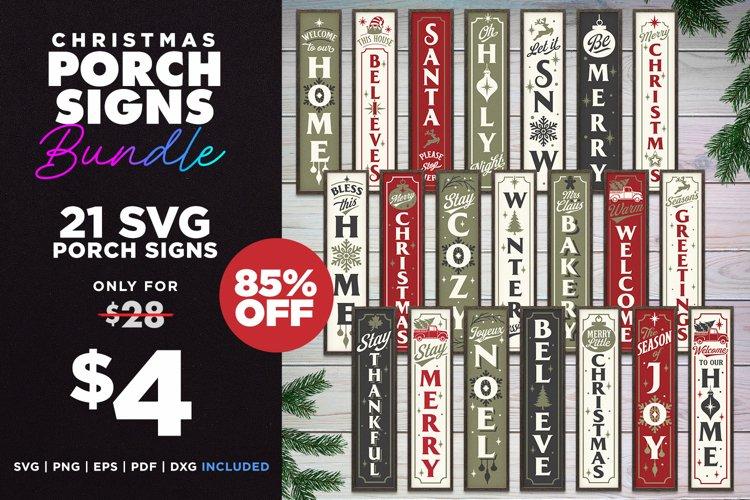 Mega Bundle | 21 Porch SVG Signs | Vintage Vertical Designs example image 1
