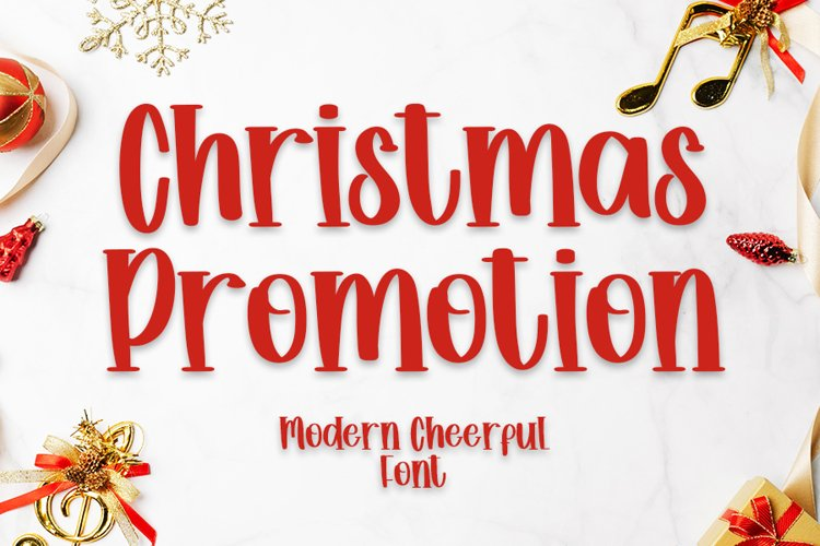 Christmas Promotion - Beauty Font example image 1