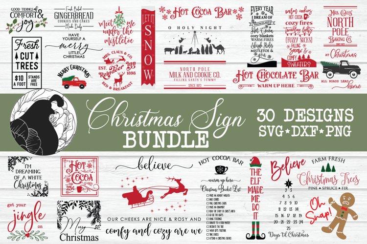 Christmas SVG Bundle, Christmas Sign Bundle, Christmas SVG