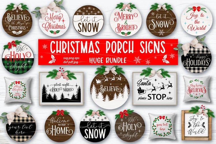 Christmas sign SVG bundle, farmhouse Christmas round signs