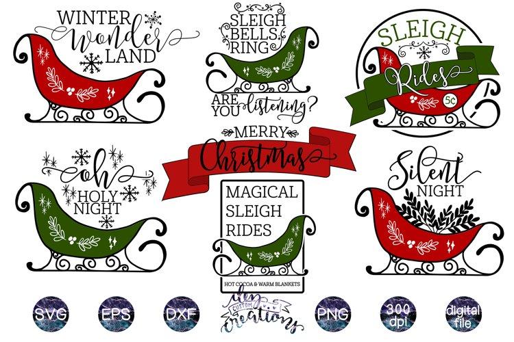 Sleigh Christmas SVG Bundle example image 1