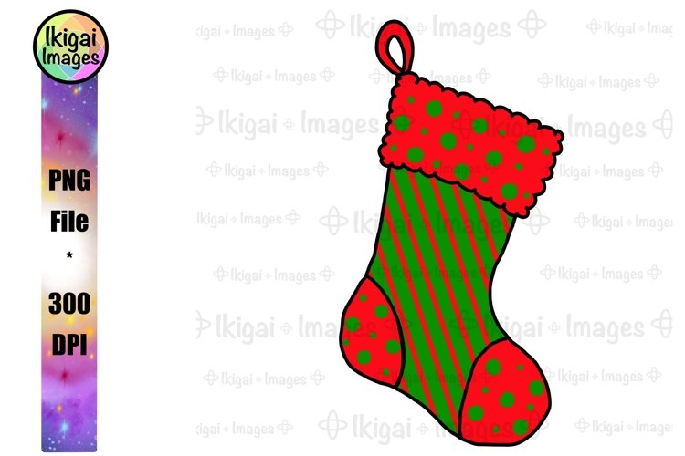 Christmas Stocking Clipart, Holiday Sublimation PNG File
