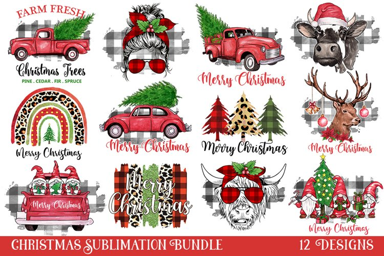 Christmas Sublimation Designs, Christmas sublimation example image 1