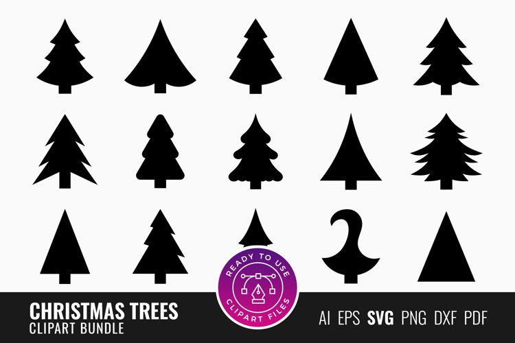 Christmas Trees SVG Silhouettes