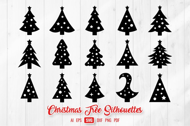 Christmas Trees Silhouettes & Decorations