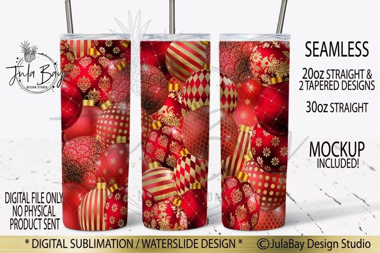 Christmas Tumbler Design PNG Christmas Balls Ornaments