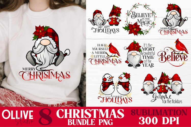 Christmas Sublimation Bundle PNG example image 1