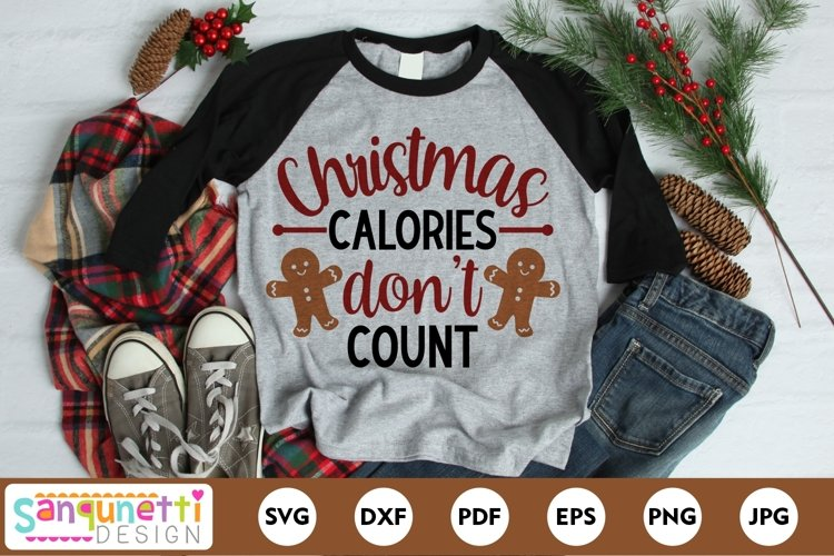 Christmas calories don't count funny SVG example image 1